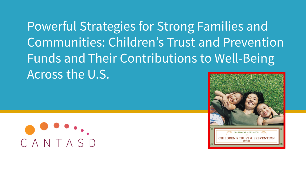 Powerful Strategies for Strong Families and Communities: Children's Trust and Prevention Funds (This link opens in a new window)