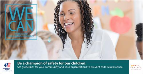 Be a champion of safety for our children.
