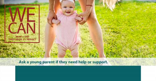 Ask a young parent if they need help or support.