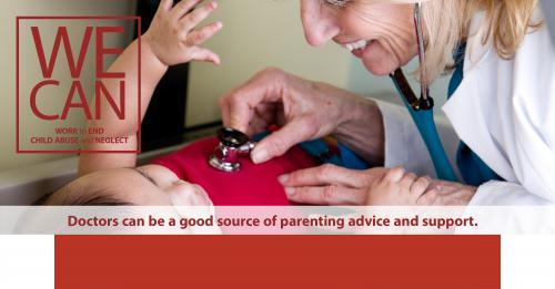 Doctors can be a good source of parenting advice and support.