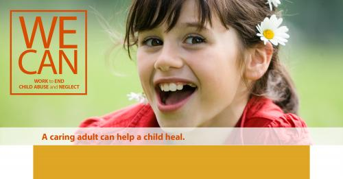 A caring adult can help a child heal.